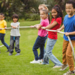 Outdoor games in kids everyday life